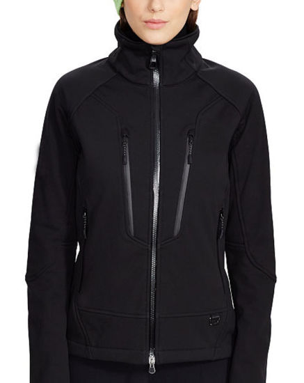 Women Breathable Water-Resistant Slim Outdoor Softshell Jacket