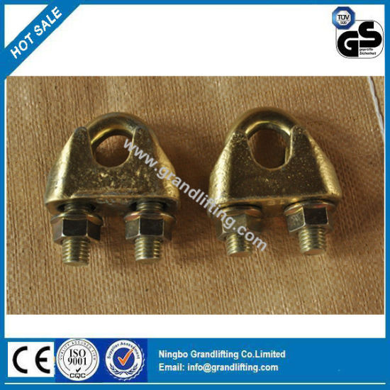 Yellow Galvanized DIN 1142 Wire Rope Clips pictures & photos