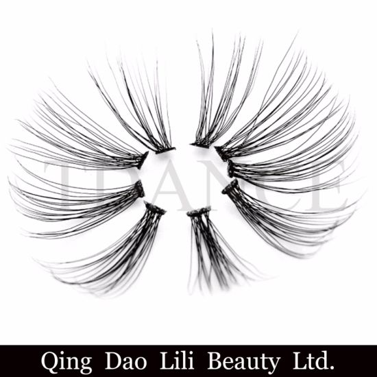 7666988c209 3D Volume Flare Eyelash Extension Natural Soft Flare Cluster 3D Lashes  pictures & photos
