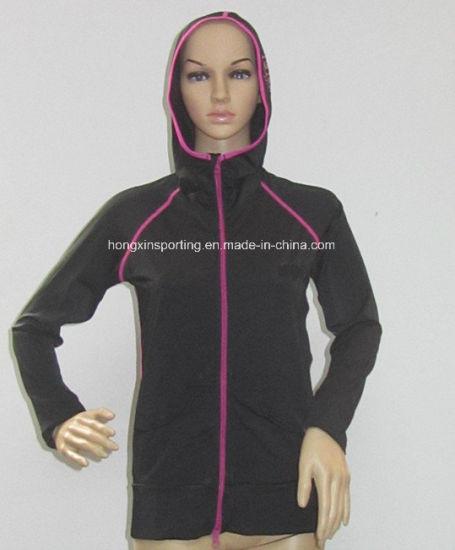Women's Lycra Long Hooded Rash Guard/Sports Wear/Swimwear