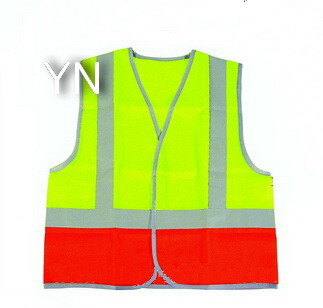 Safety Vest with Silver Reflective Trips