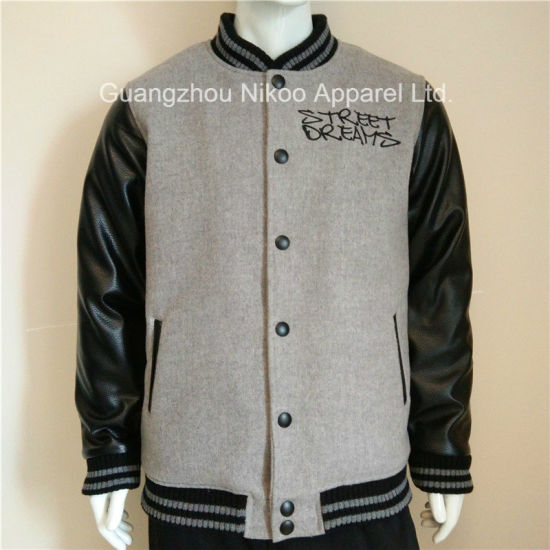 Custom Embroidered Padded Wool Varsity Jackets with Tackle Twill Patches