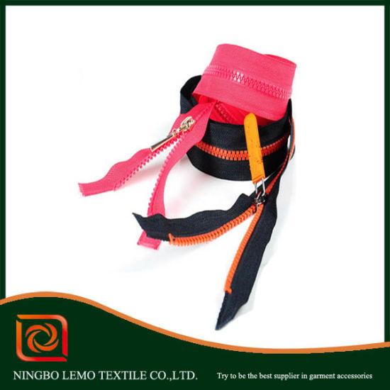 Multi-Color Plastic Zippers, Derlin Resin Zippers 3# 5#