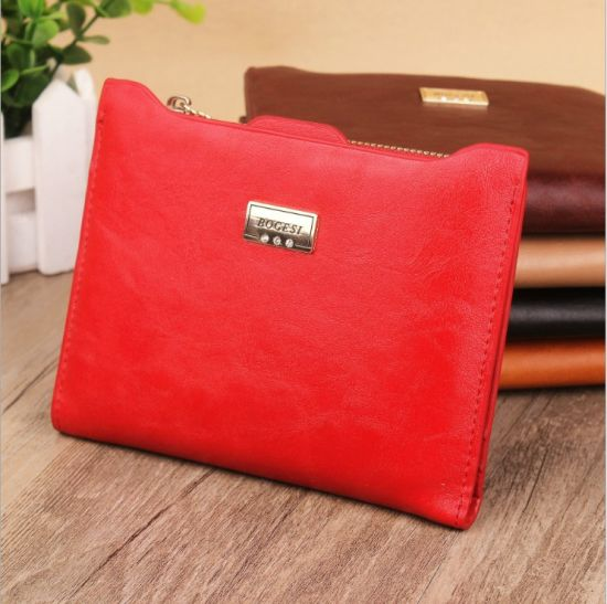 with Coin Bag Zipper New 2017 Women Wallets Brand Purses Female Thin Wallet Passport Holder ID Card Case pictures & photos
