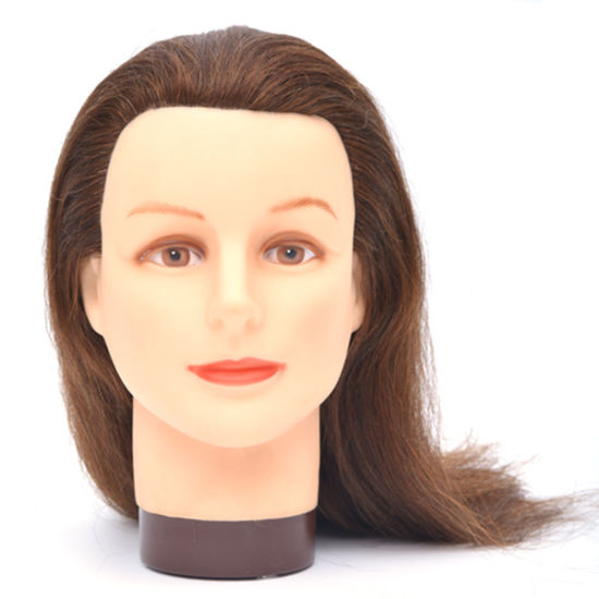 Whole Training Mannequin Head With Human Hair Manikin For Hairdresser