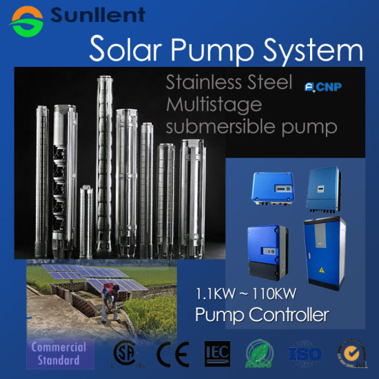 Stainless Steel Multistage Submersible Pump Solar Water Pump System
