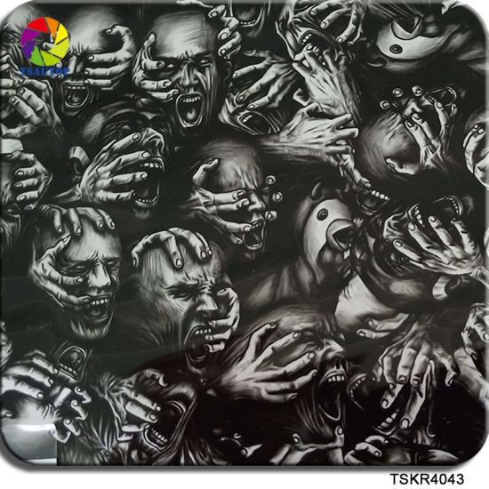 China Tsautop 0 5m 1m Width Skull Dip Film For Hydro Dipping Rims