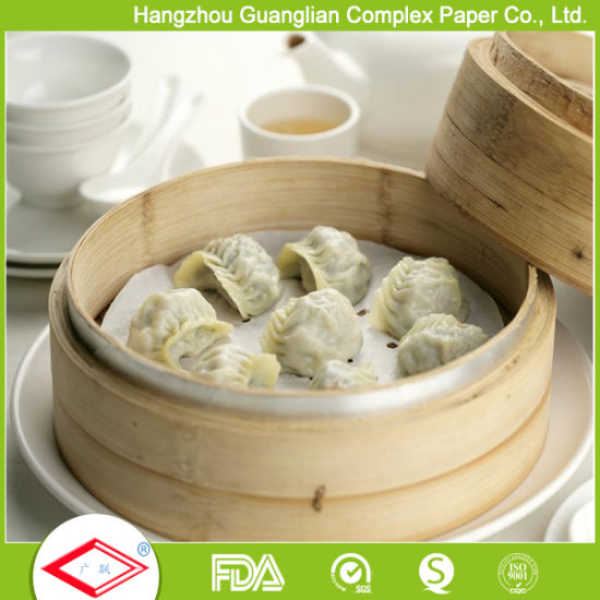 Professional Supplier Siliconised Non-Stick 23cm Steam Dim Sum Paper