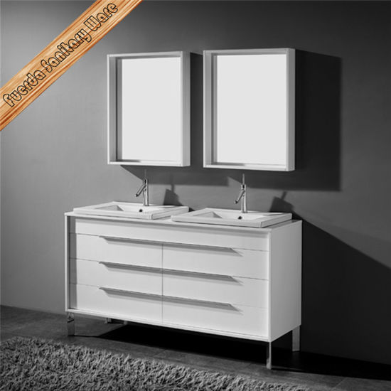 Fed-1226 32inch Integrated Ceramic Wash Basin Bathroom Cabinets pictures & photos