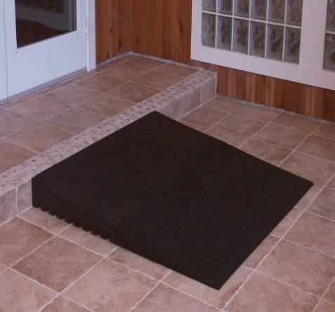 Outdoor Rubber Ramp Threshold Easy Installation