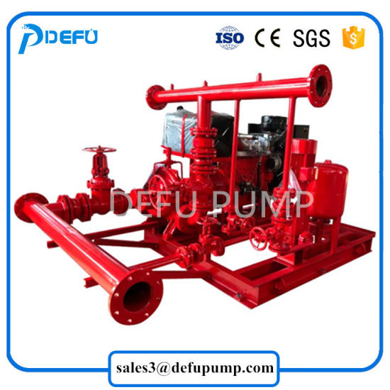 China Nfpa 20 Approved 750gpm Diesel Fire Pump Package Engine Driven