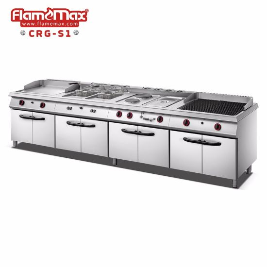 Set Cooking Range with Griddle Fryer Hot Plate Bain Marie
