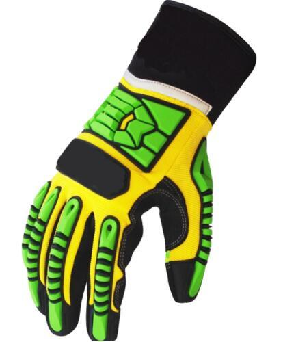 Anti-Slip Impact Industrial Resistant Mechanical Safety Work Safety Nitrile Glove with TPR