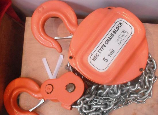Hsc Big Scale High Quality Manual Chain Pulley Block pictures & photos