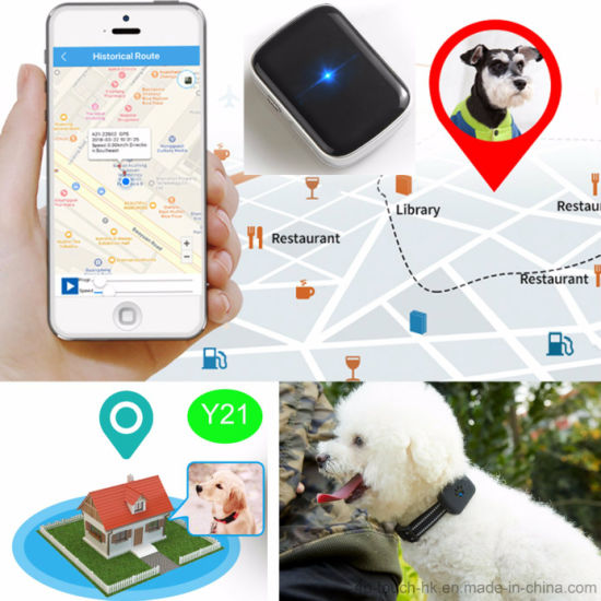 IP67waterproof 1000mAh Pet GPS Tracker Tracking with Google-Map Y21