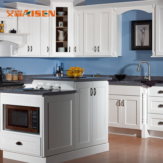 . China American Style Simple Designs Wood Kitchen Cabinets for Small