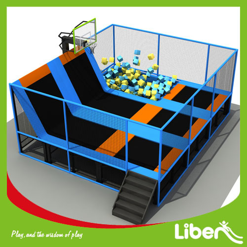 china kids indoor trampoline bed fashion trampoline park with safety net china commercial. Black Bedroom Furniture Sets. Home Design Ideas