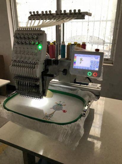 Newest Single Head 6/9/12/15 Needles Computerized Embroidery Machine Price in China Similar as Tajima and Brother One Head Embroidery Machine