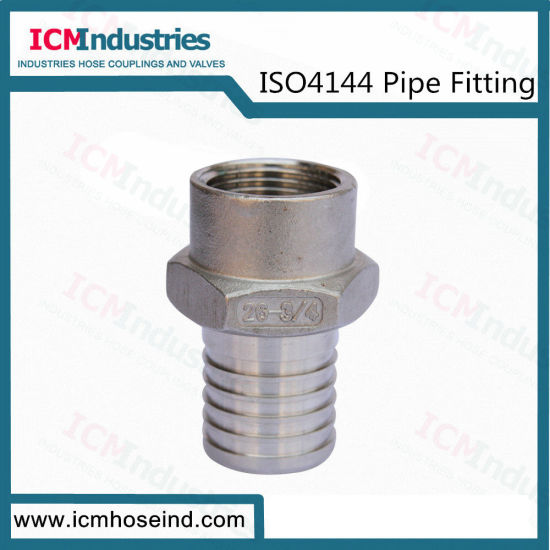Stainless Steel Hose Nipples Threaded Fittings/ISO 4144 Pipe Fitting