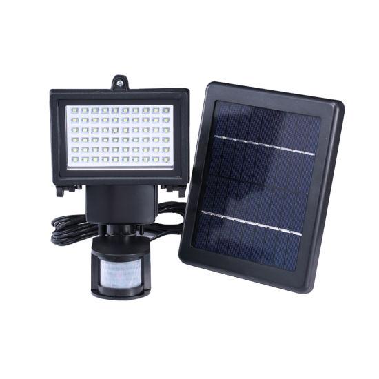 Motion Sensor Walls Lamp Outdoor Exterior Wall Solar Powered LED Light