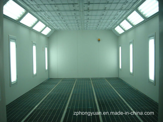 Automotive Spray Booth with Diesel Burner and Heat Insulation Panel