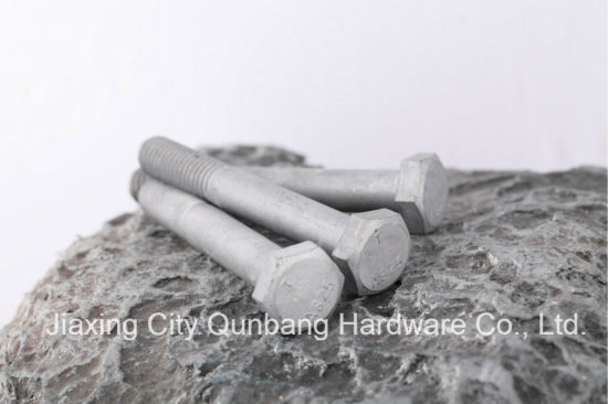 Heavy Hex Bolts (1/2′- 1-1/2′ HDG A325 ASTM A325) pictures & photos