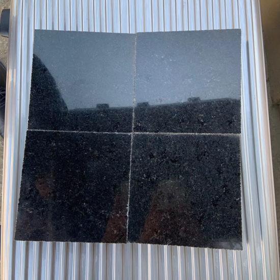 Absolutely Black Granite Slab Tile Hebei Black Granite Tile