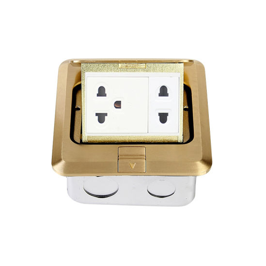 Brass Material Pop up Socket Outlet with 16A Thailand Socket DCT-628/GB