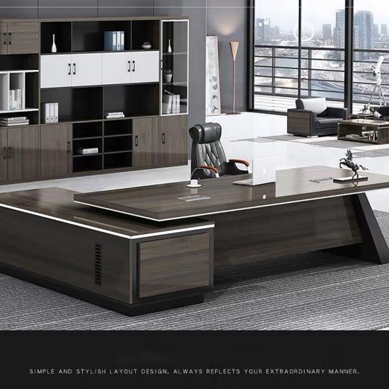 Simple Luxury Wooden Standing Computer Desk Office Executive Desk