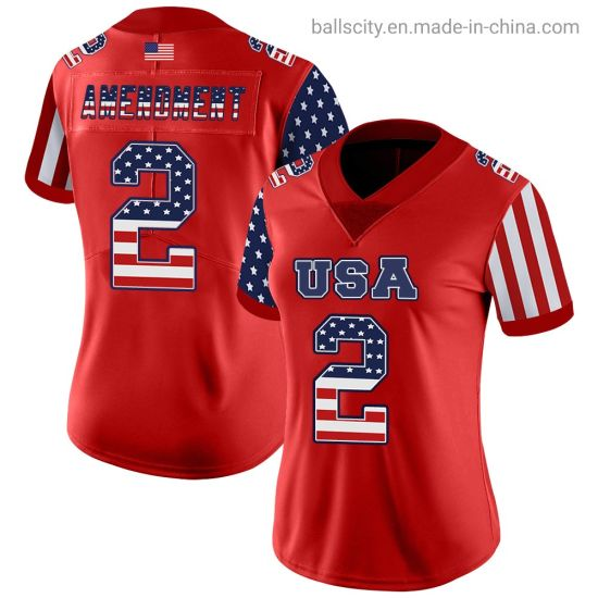 Unique Custom New Arrival Women′s Football Shirt Red Color Sportswear pictures & photos