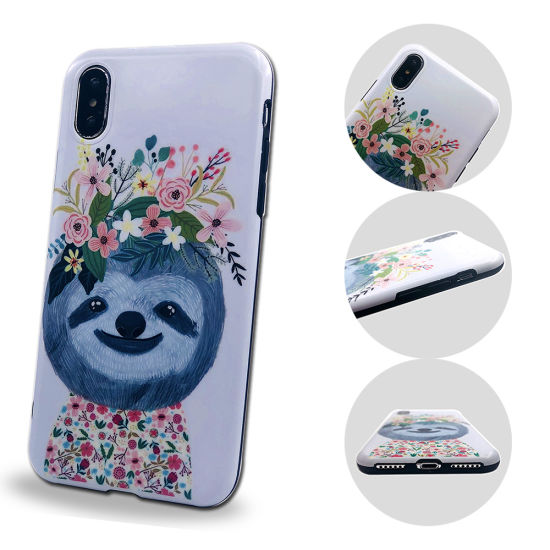 OEM IMD Matte Ultra Thin Soft TPU Cute Cartoon Dog Sloth Pattern Mobile Phone Case pictures & photos