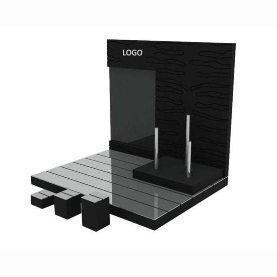 Wholesale Customize Wooden Acrylic Jewelry Display Shelf