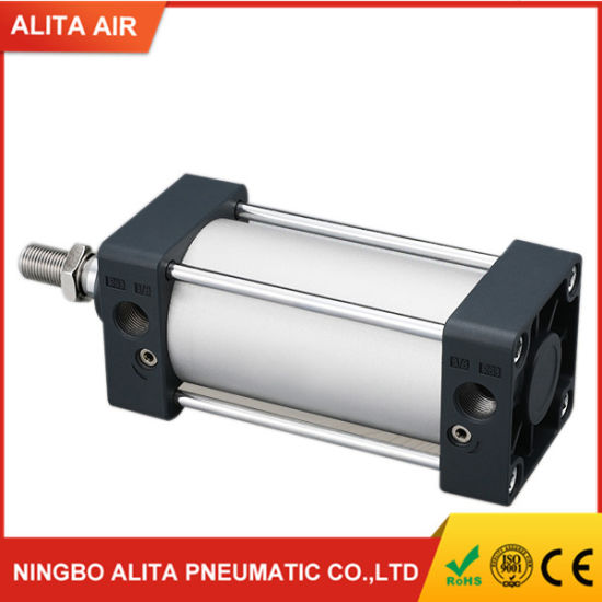 Single Rod Double Acting Pneumatic Bore 100 Strock 125 Standard Air Pneumatic Cylinder