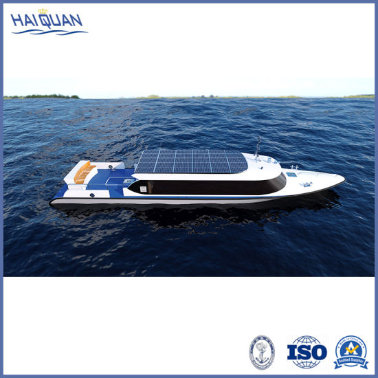 Pure Electric Economic Sightseeing Tour Boat Solar Powered Passenger Boat