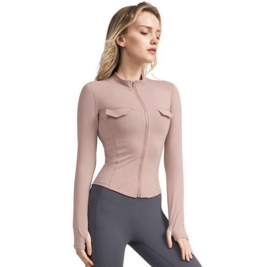 Sexy Self-Cultivation Autumn Long Sleeves Yoga Gym Active Clothes Women's Sports Top Wear
