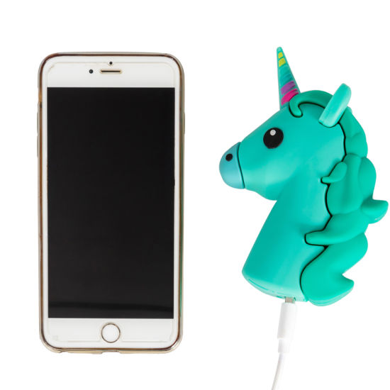 New Design OEM Portable PVC Soft Silicone Cute Cartoon Unicorn Power Bank for Promotion pictures & photos