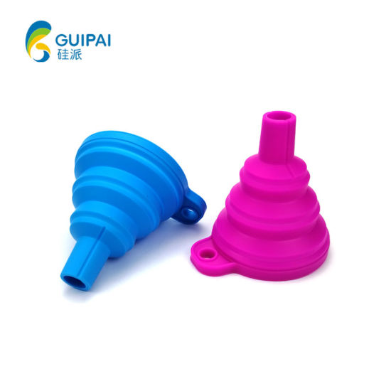 Kitchenware Eco-Friendly Mini Foldable Funnel Collapsible Funnel Folding Silicone Funnels
