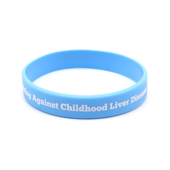 Professional Custom Debossed Color Fill Wristband Custom Soft Silicon Wristband Rubber Bracelet pictures & photos