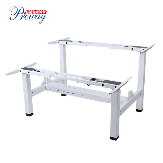 2020 Modern Double Electric Height Adjustable Sit Stand Office Workstation Desk with 2 Motors Each Side