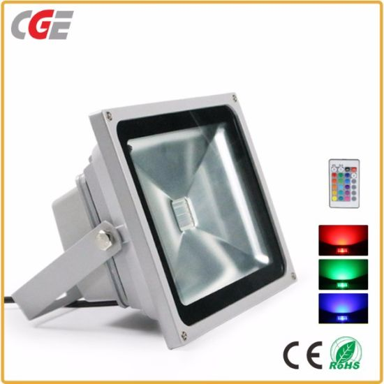 Rgb Floodlight Outdoor Lights 10w 20w 30w 50w 80w Outdoor Rgb With Color Changing Waterproof Security Led Flood Light