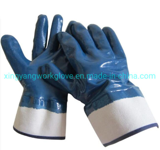 Heavy Duty Fullly Nitrile Coated Safety Industrial Work Glove