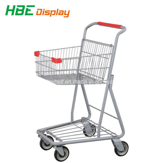 CE & ISO Approved Two Tier Grocery Shopping Cart for Sale pictures & photos