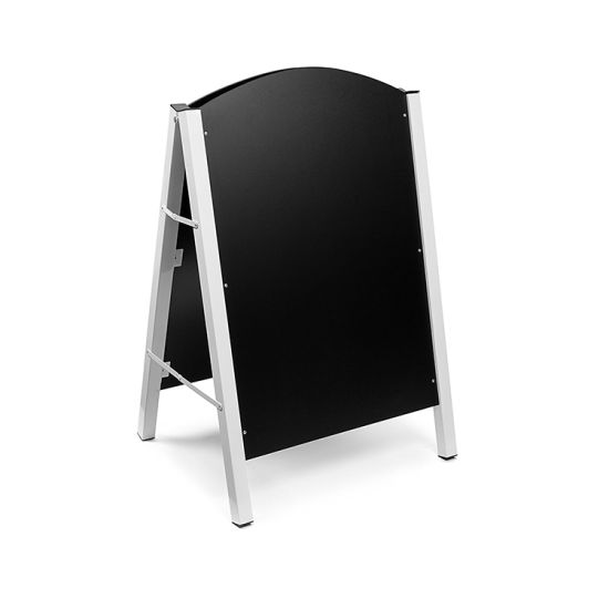 China White Frame Black MDF Chalkboard of A Shape for Outdoor ...