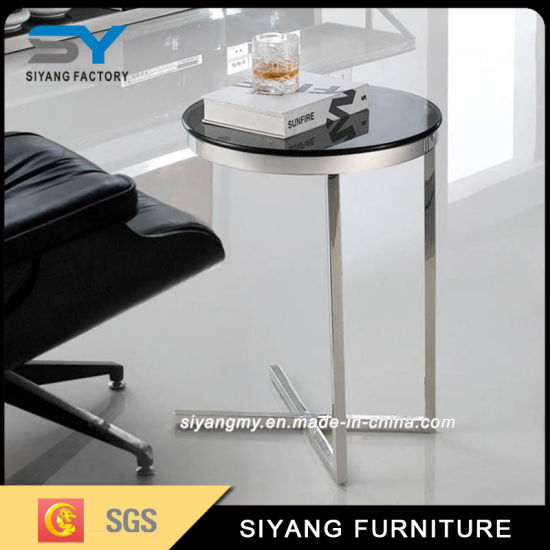 Chinese Hot Furniture Cross Base Side Coffee Table For Usa