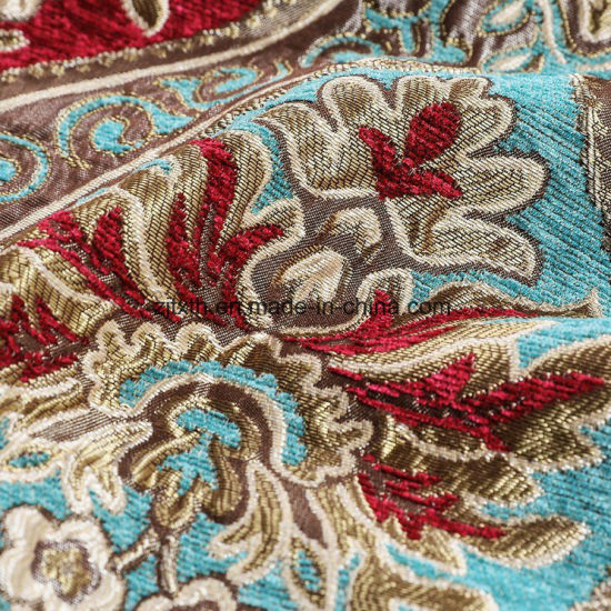 Popular Fabric with Large Flower Shape Chenille New Fabric for Curtain