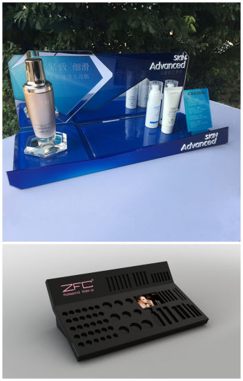 Custom Making Acrylic Cosmetic Display Stand, Acrylic POS Display