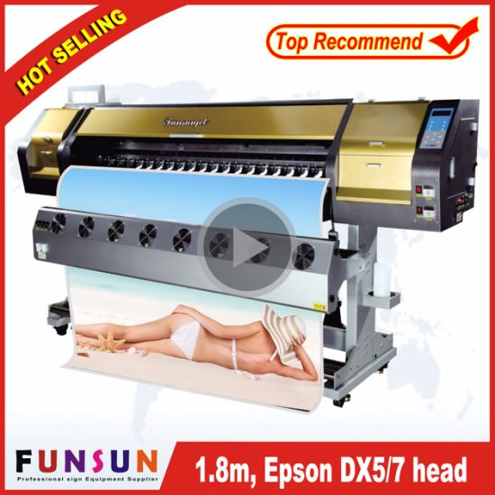 bc5f255c1 High Quality Funsunjet Fs-1802g Dx5 Head Outdoor Advertising Flatbed Printer  pictures & photos
