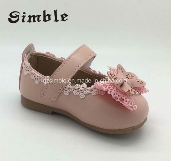 PU Upper Shoes Baby Girls Shoes Moccasin Shoes with Bowknot