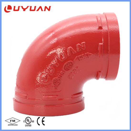 Ductile Iron Grooved Pipe Fittings and Elbow with FM/UL Approval