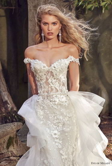 Lace Bridal Ball Gown off Shoulder Lace Mermaid Wedding Dress Ml2873 pictures & photos